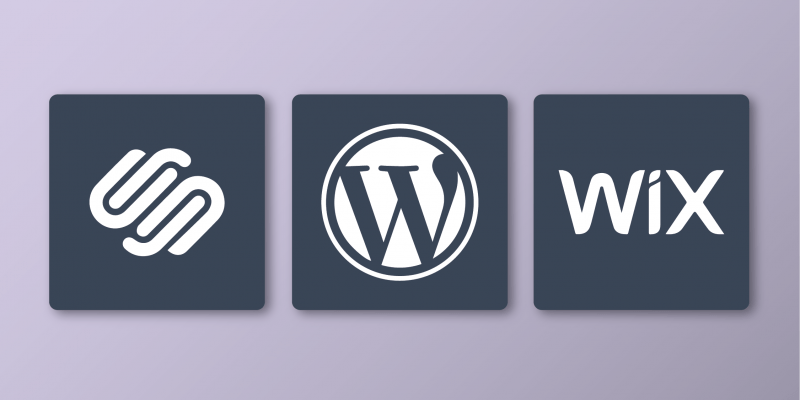 squarespace wordpress wix
