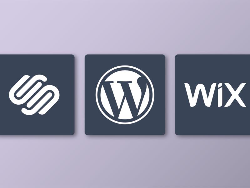 squarespace wordpress wix