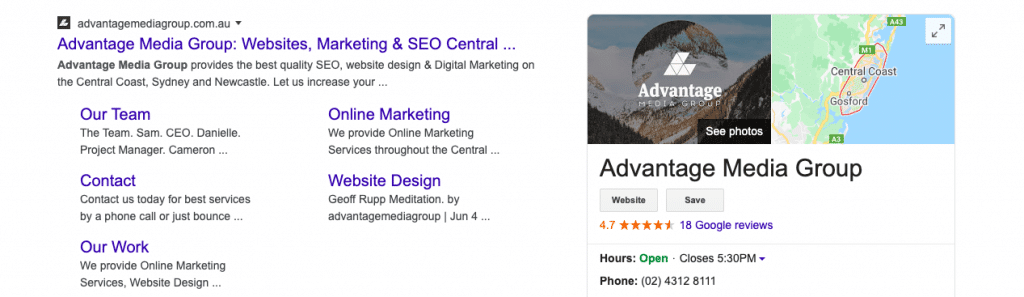 Google Listing Example
